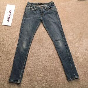 LEVIS BLUE JEAN PANTS TOO SUPER  LOW 524 JEANS